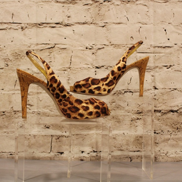Guess by Marciano Shoes - GUESS sling back leopard print heels